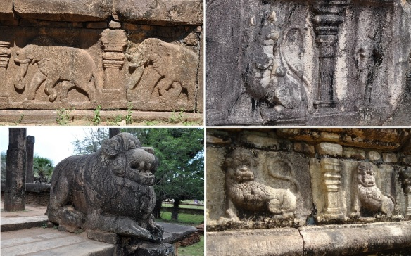 Unique sculptures from Royal Palace Complex Polonnaruwa