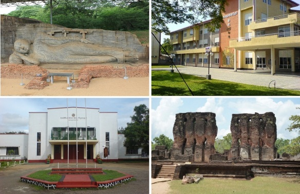 Important places on Polonnaruwa; Gal Vihara, District General Hospital, Royal Central College, Ruin of Royal Palace