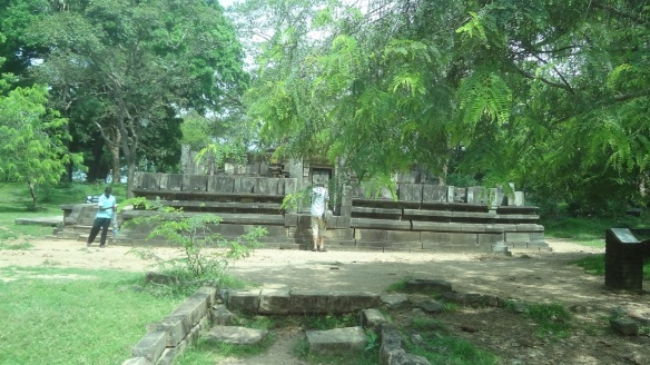 The Shiva Devaraya shrine among the green