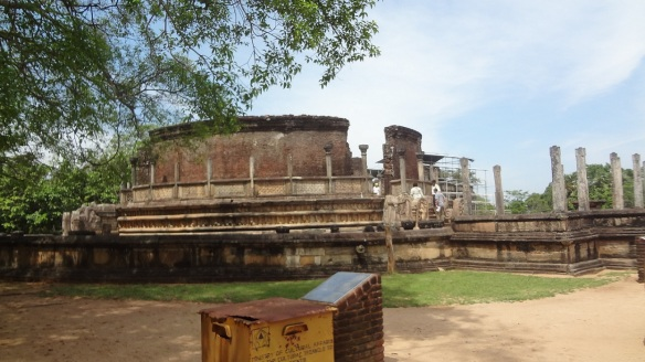 Famous circular temple Vatadage, Quadrangle Polonnaruwa