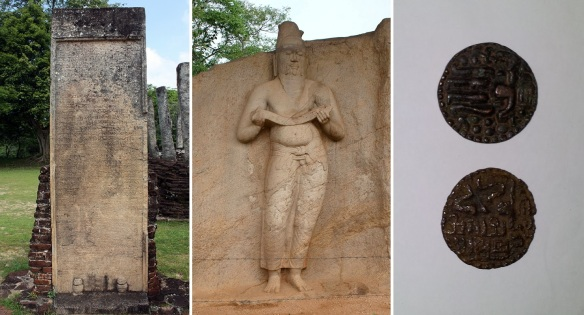 Velakara (Tamil) inscription, Stone statue and First currency of Vijayabahu I