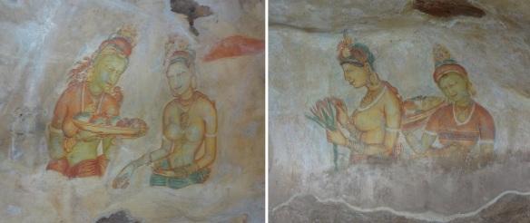 Frescos called Sigiriya Ladies