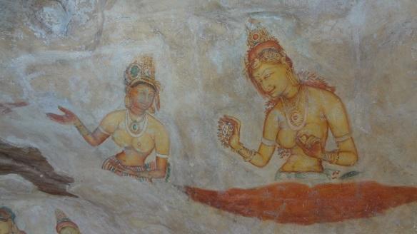 Fresco of Sigiriya Rock