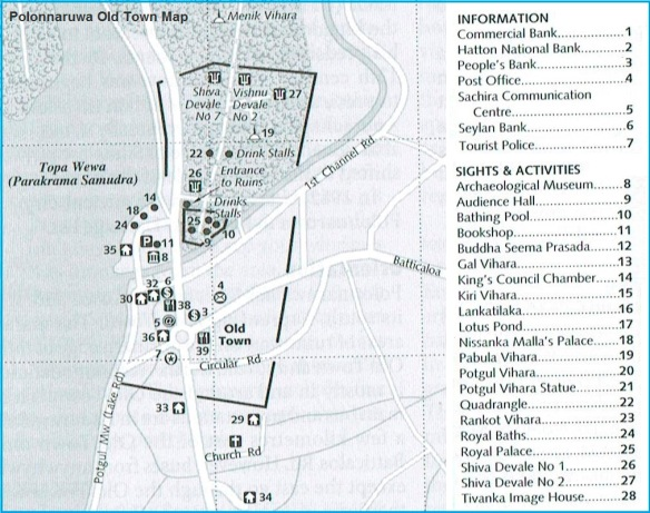 City map of Polonnaruwa