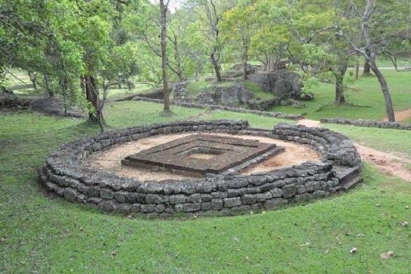Bodhigara in the Boulder Gardens Sigiriya