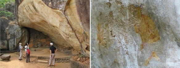 Deraniyagala cave, monastic shelter, and its faint traces of painting in the Boulder Gardens.