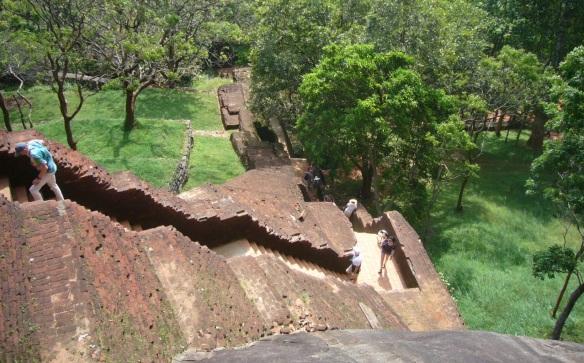 Climbing the Sigiriya Rock.