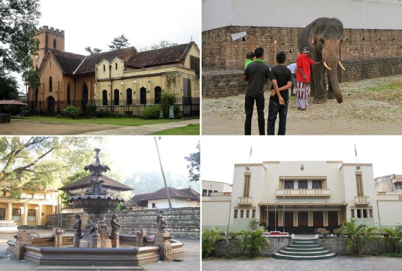 St. Paul Church, Elephant is livestock in Sri Lanka, Roadside old fountain, and Trinity College in Kandy