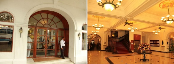 Queens Hotel entrance and lobby.