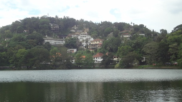 Landscape the opposite shore of Kandy Lake