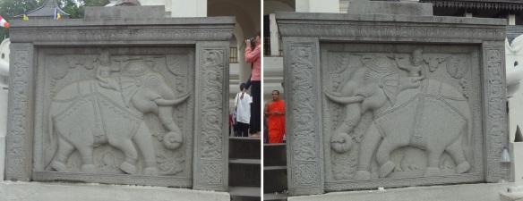 Unique guard stones of the entrance.