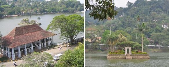 Diyathilaka mandapaya, middle of Kandy Lake