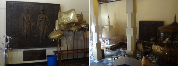 Through the hallway to the new shrine, there are many great Buddhist ritual implements and crafts.