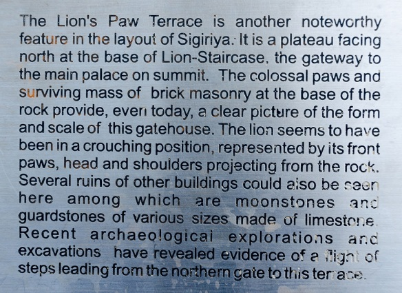 Explanation board of Lion's Paw Terrace