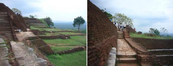 Walking around the summit of Sigiriya Rock