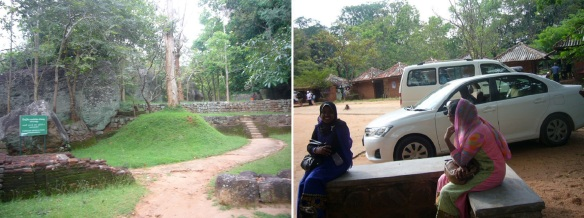 Left the Sigiriya Rock Palace and arrived at the parking lot.