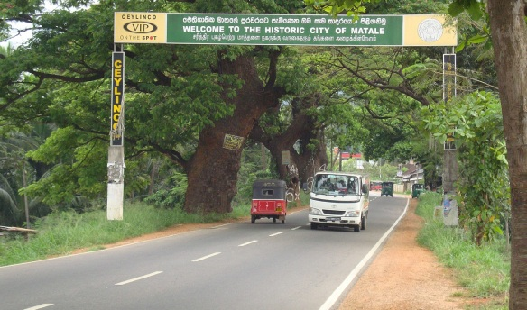 After the spice garden, going in the city of Matale.