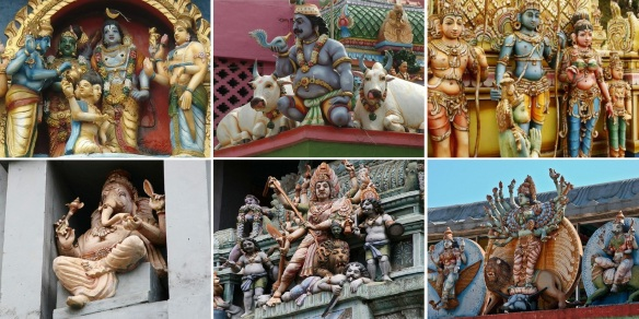 Unique Hindu Gods of the Sri Muthumariamman Temple.