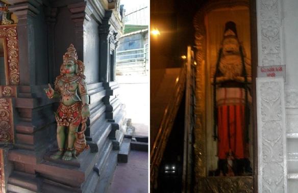 Shri Bhakta Hanuman Temple interior, mysterious images