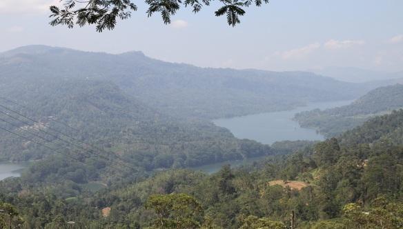 View from the Shri Bhakta Hanuman temple, Kotmale Reservoir Lake