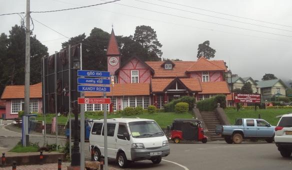 The Nuwara Eliya Post Office on the New Bazaar Road.