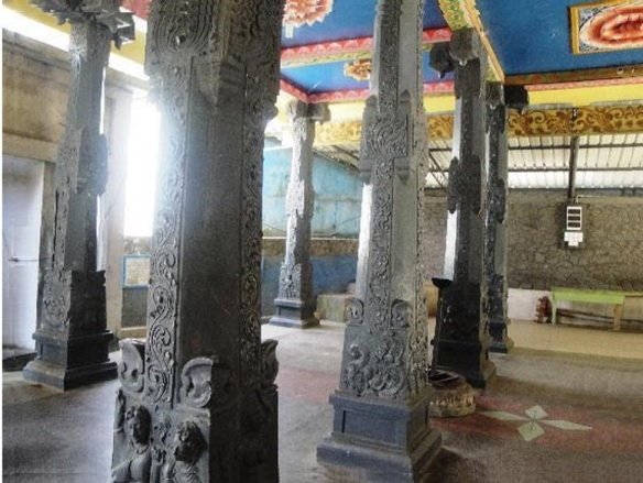 The interior of Hanuman Temple Nuwara Eliya.