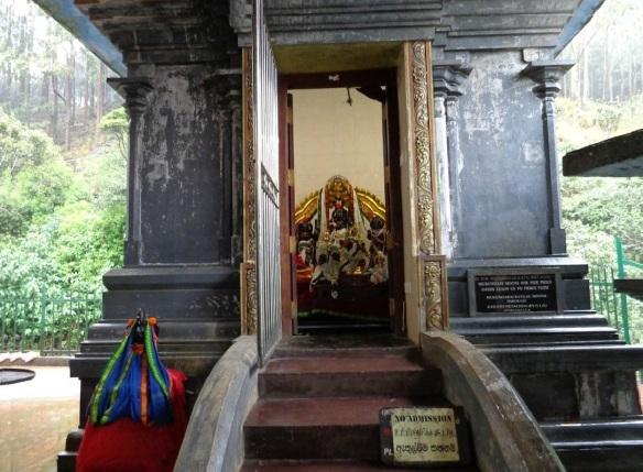 Altar of Hanuman Temple Nuwara Eliya.