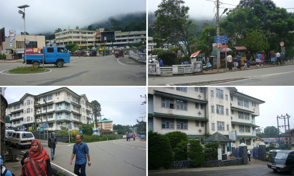 Walking around the hotel; Photos are a big supermarket, roadside stalls, Windsor Hotel and Police Station of Nuwara Eliya.