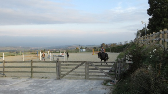Outdoor riding ground