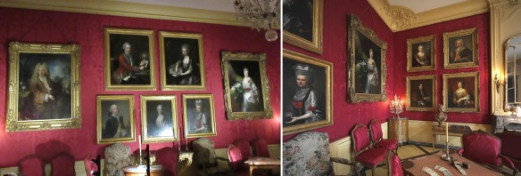 Portraits of the former residents in the Palace.