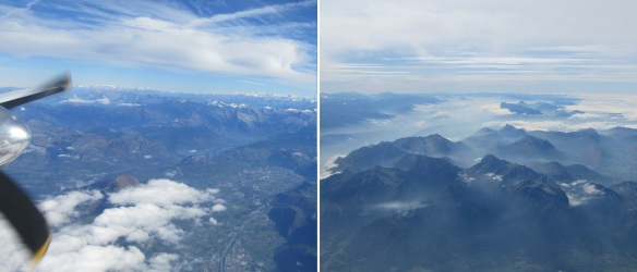 Alps, from the window of the airplane.