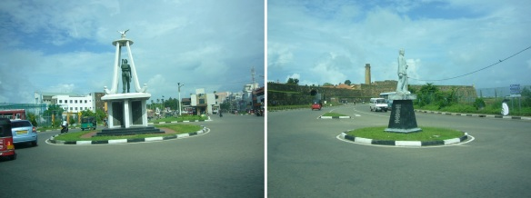 Going to the Galle Fort from the Hotel Closenberg.