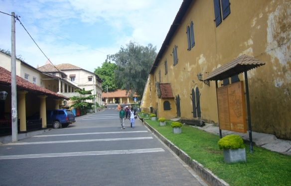 A street in Galle Fort area