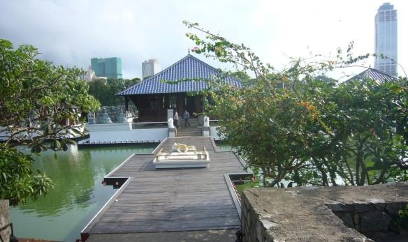 Seema Malakaya Temple on the Beira Lake