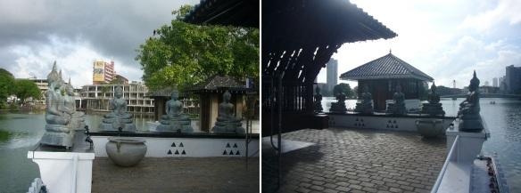 Buddhist images of the Seema Malaka Temple