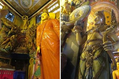 Statues of the Gangaramaya Temple