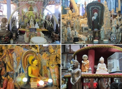 Too much Buddhist images in the temple