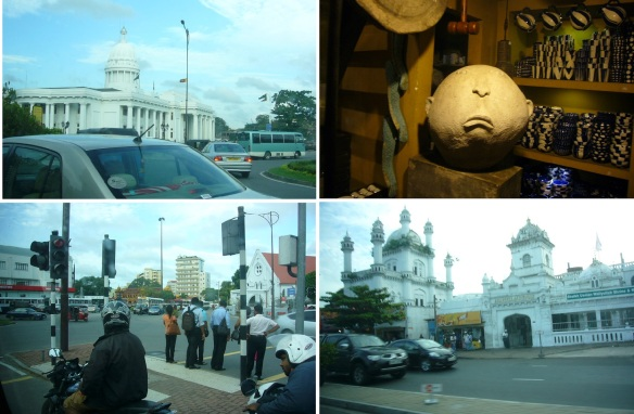 Colombo Town Hall, Souvenir shop, Intersection of old town and Devatagaha Mosque