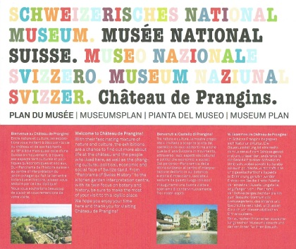 Brochure of Château de Prangins (Prangins castle)