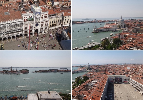 Composite panoramic view of Venice as seen from the top of the Campanile