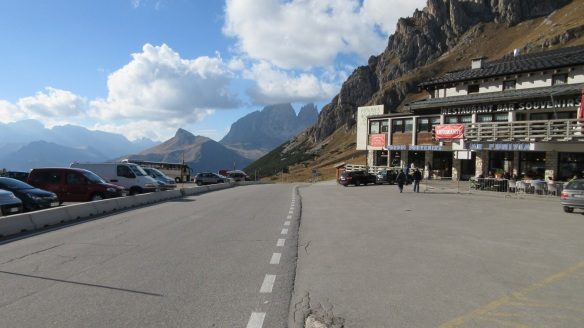 Arrived at Passo Pordoi (Pordoi Pass)