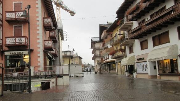 Corso Italia Street of Cortina d'Ampezzo