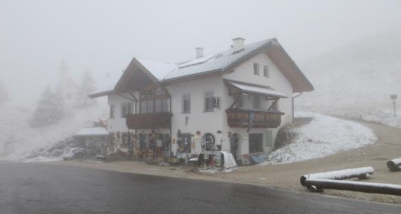 Ski inn on the Passo Gardena, I had coffee here.