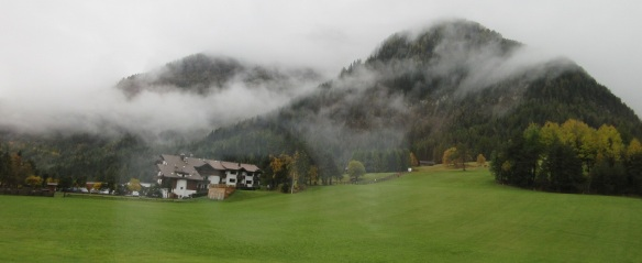 Leaving Ortisei for the next destination Valley of Funes
