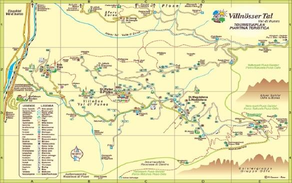 Funes Valley Map