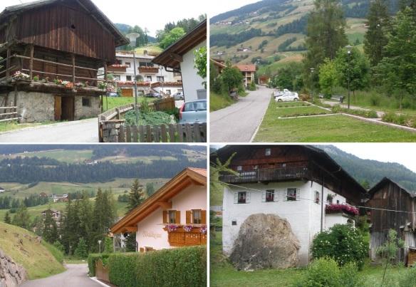 Walking around the village.