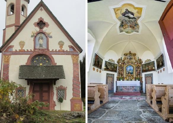The entrance façade and altar of Church of St. John.