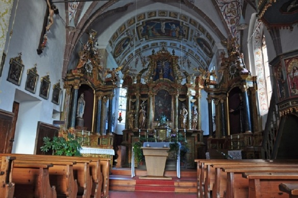 The altar of the church