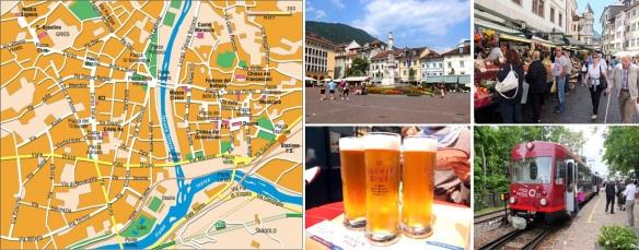 Brochure of Bolzano (Piazza Walther, via Goethe, Bolzano's weizn is the best, Treno del Renon)