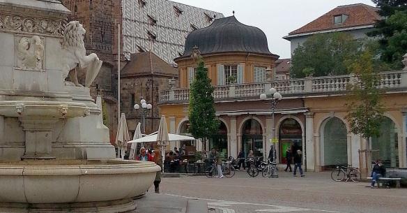 Left Walther Square for Piazza del Grano